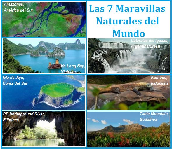 Resultado de imagen de las 7 maravillas del mundo naturales
